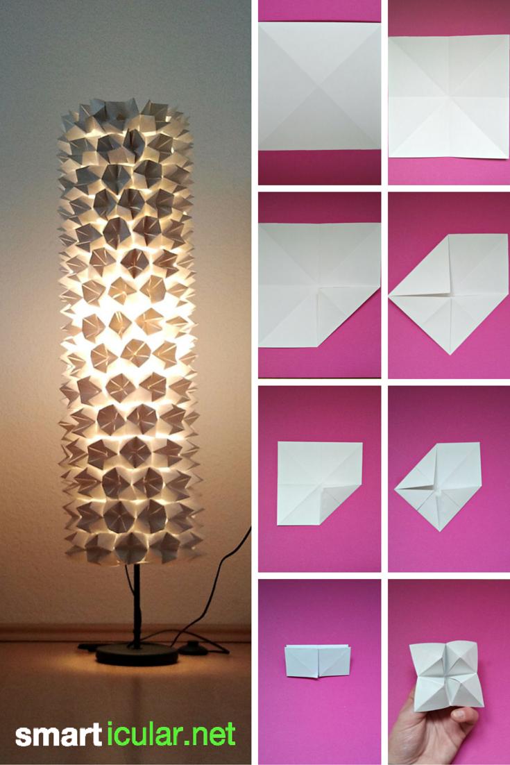 Recycling-Tipp: Lampenschirme mit Origami verschönern ...