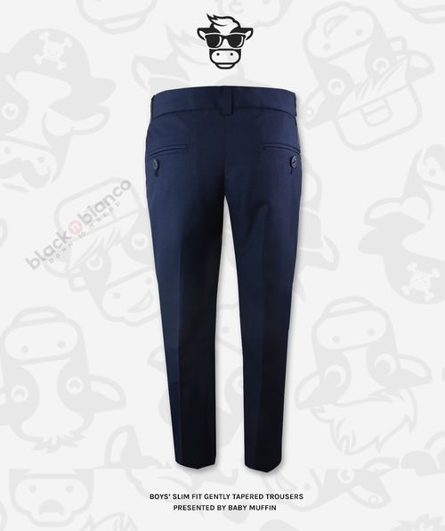 e5c6b0f34b01f6 Boys' First Class Slim Fit Flat Front Trouser Pants in Navy in 2019 ...