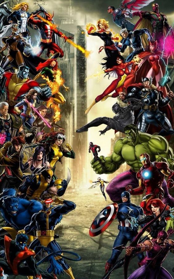 XMen vs. Avengers Marvel, Héroes marvel