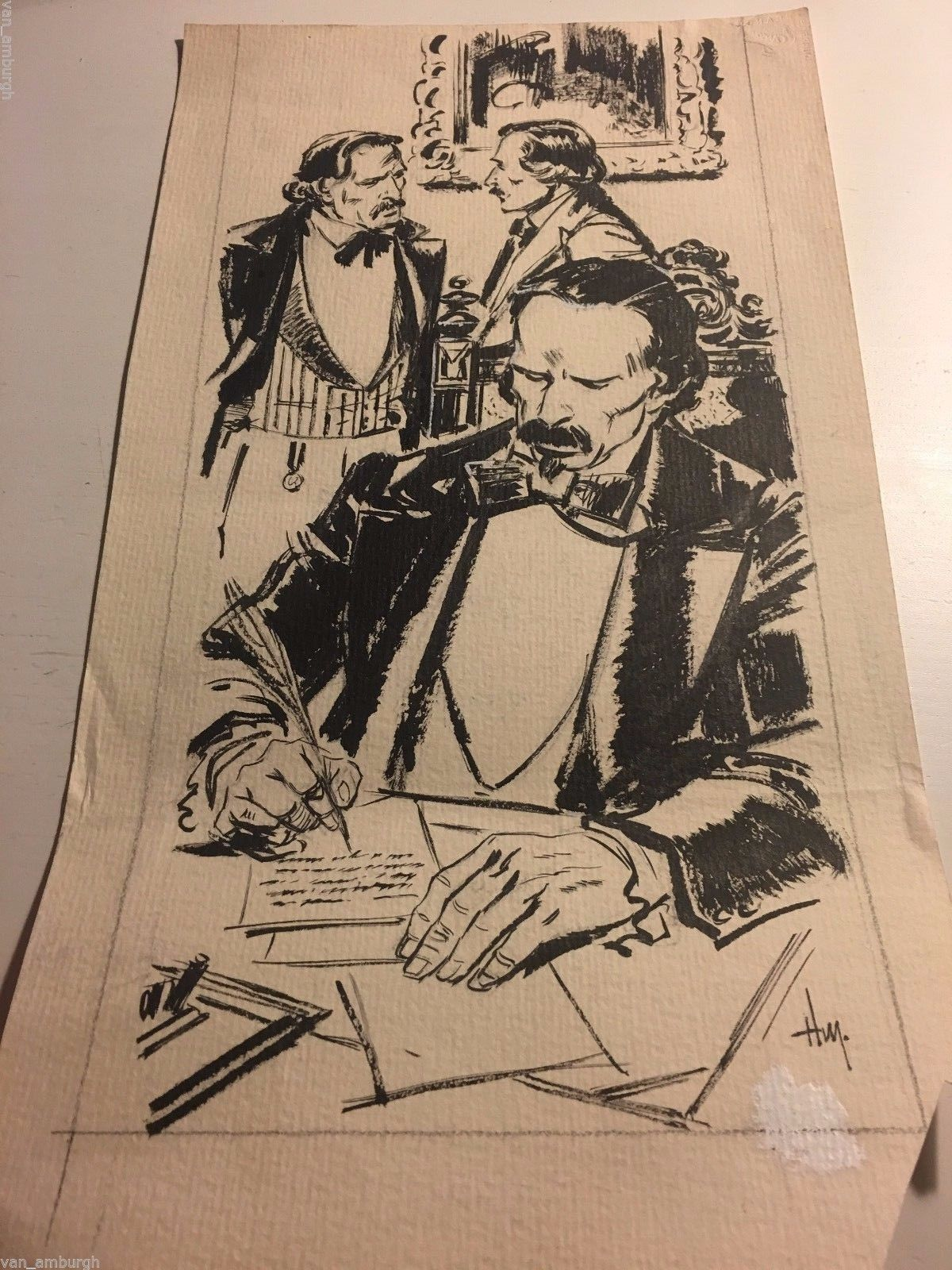 Original Drawing Of Carlos Manuel Cespedes Cuban