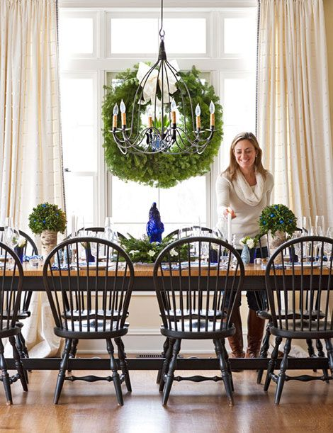 Cozy Connecticut Holiday Home, Traditional Home, Love The Tiger Maple  Trestle Table And Windsor Chairs.