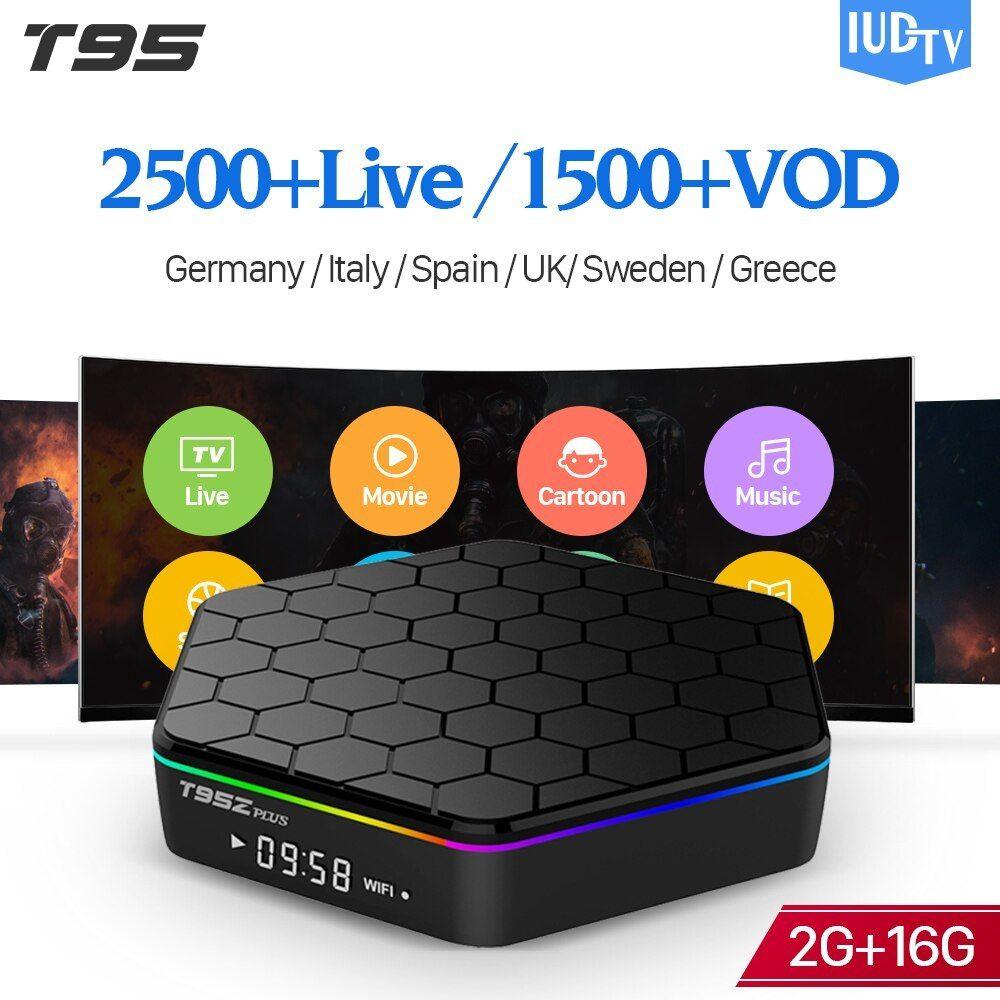 T95z plus Android 7 1 Sweden IPTV Box S912 Smart IUDTV Code
