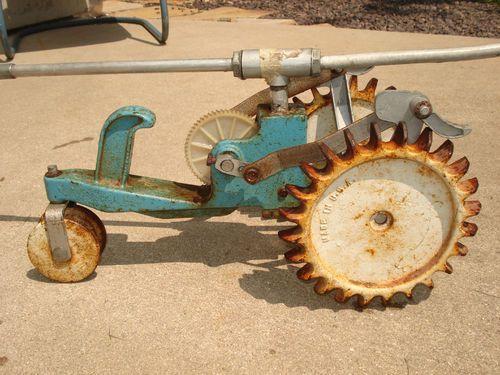 Thompson Tractor Sprinkler Parts : Sears cast iron tractor lawn sprinkler vintage garden