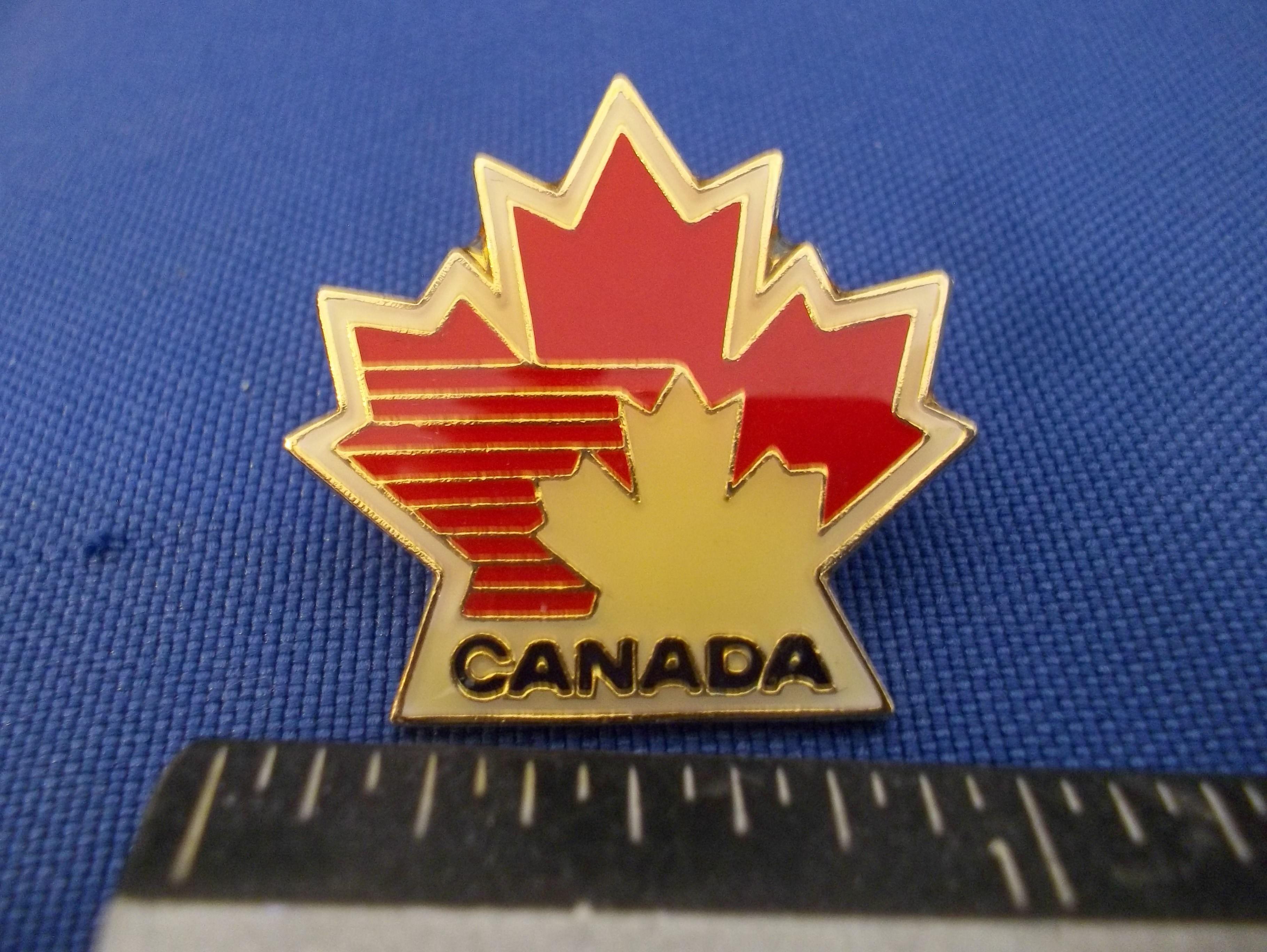 1988 Calgary Olympic Team Canada Hockey Logo Pin