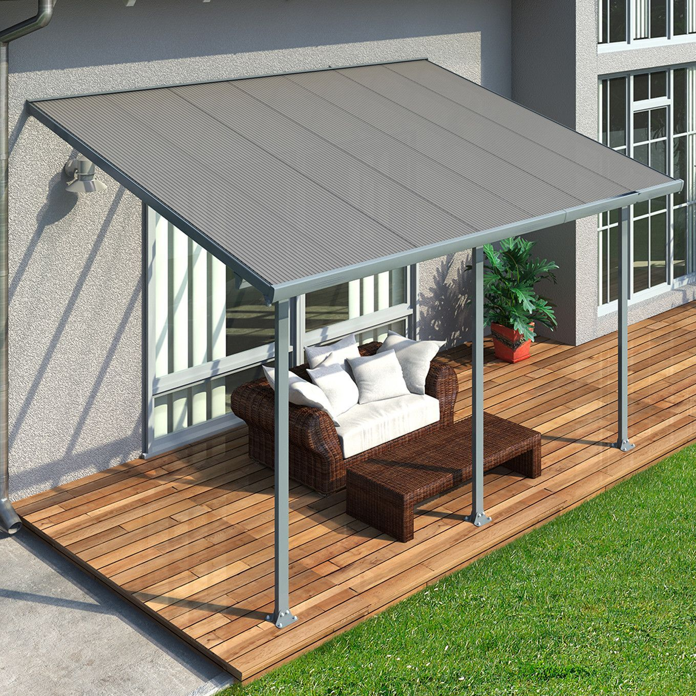 Feria 14 Ft W X 9 5 Ft D Patio Awning Pergola Patio