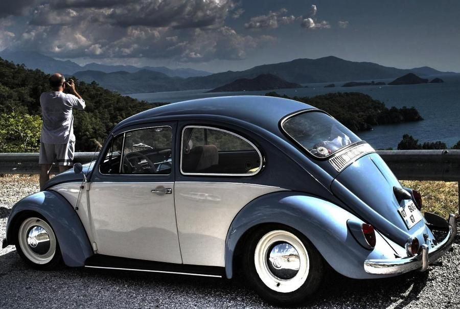 Vw beetle two tone cruiser old school vw 39 s pinterest for Garage sena auto
