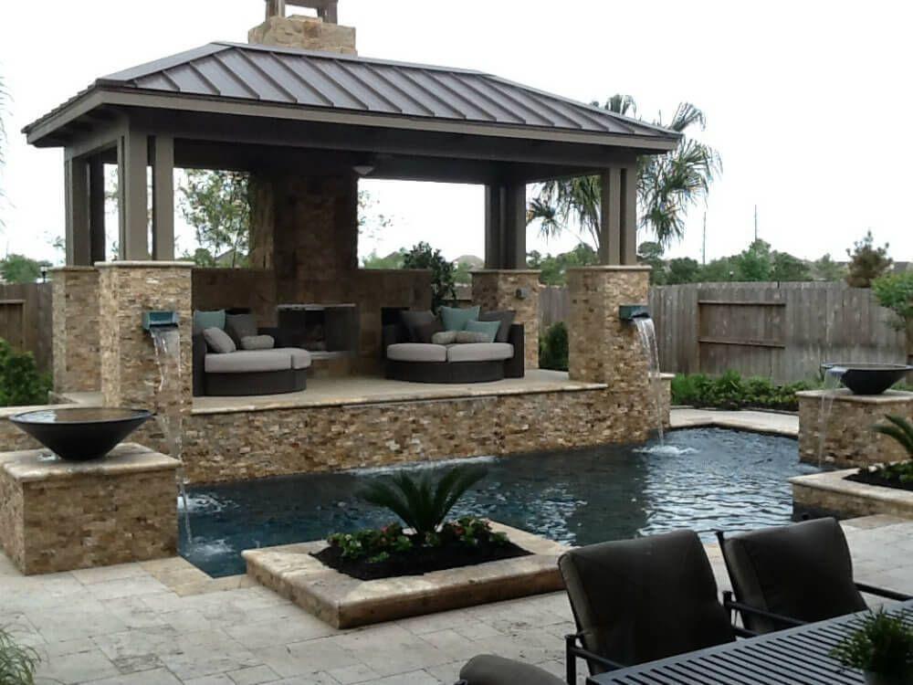 36 Spectacular Hardtop Gazebo Ideas Backyard Pavilion Backyard