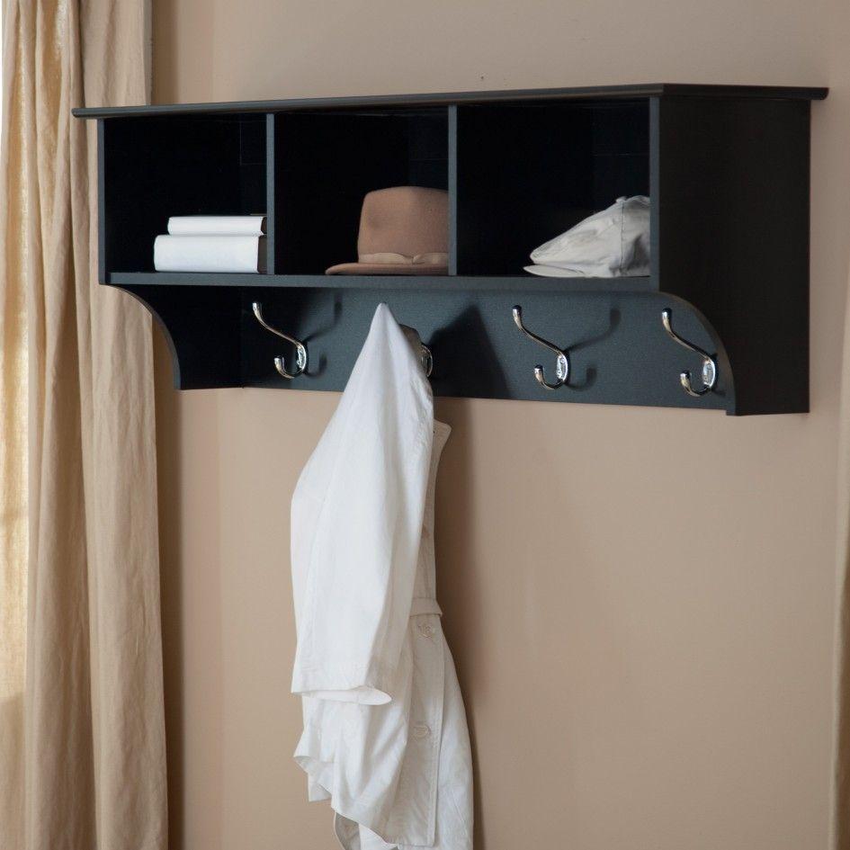 Decoration, Fine Coat Hanger Design With Beauteous Black Wood ...
