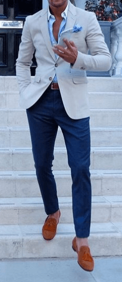Loafers Are Back In Action! | Mens fashion blazer, Mens