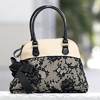 Lace and Bow Bag