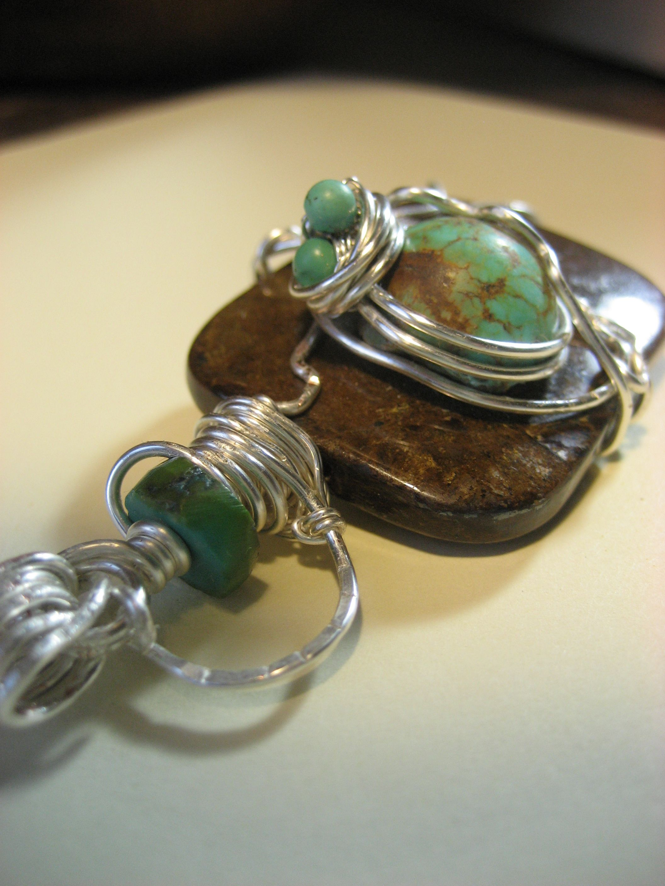Now what would you do with this bronzite, turquoise and silver lover- hmmmm