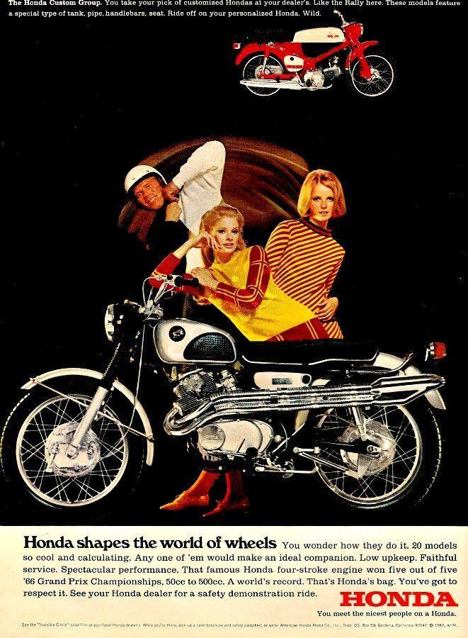 1967 Honda Black Bomber Motorcycle Ad