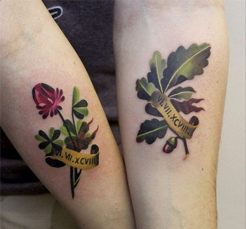 20 Botanical Tattoo Artists You Need To Follow For Your: Tattoos By Sasha Unisex. I Like The Light Green/dark Green