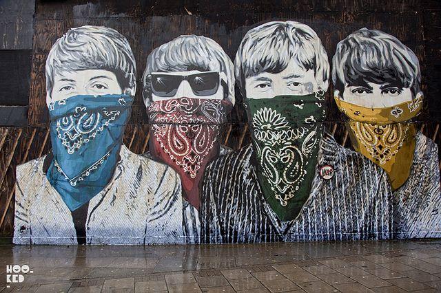 The Beatles By Banksy Streetart Beatles Banksy Street Art