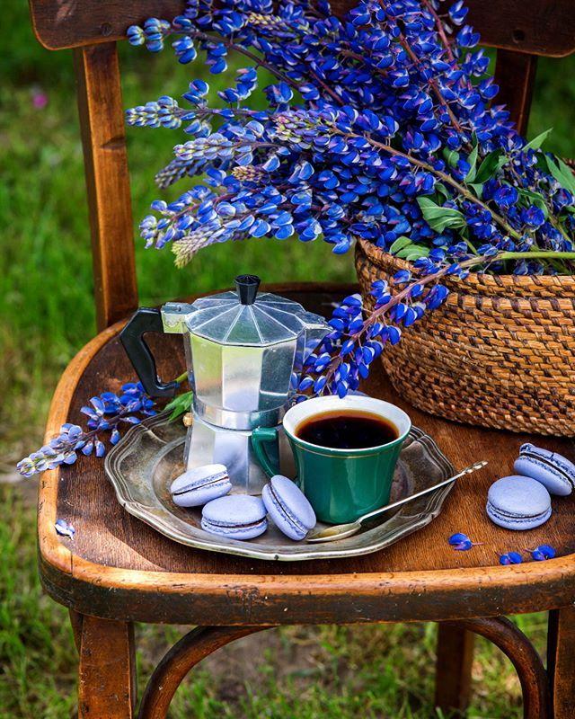 Coffee in the garden💜 Хорошо, когда все хорошо и можно