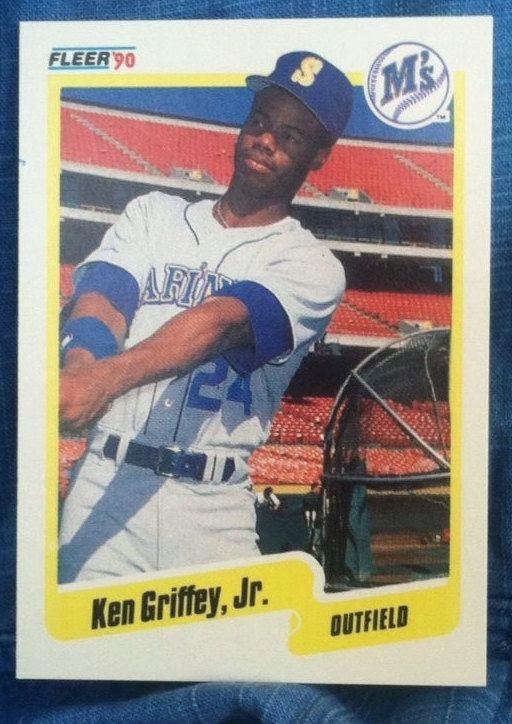 1990 Fleer Ken Griffey Jr 2nd Year Card 513 Nos Griffey Jr Ken Griffey Jr Ken Griffey