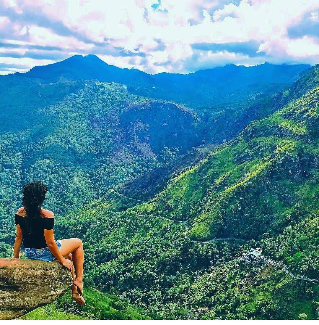 amazing view at mini adams peak ella sri lanka photo