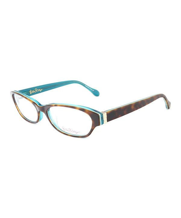 a29f7a33725 This Lilly Pulitzer Tortoise   Aqua Naydia Eyeglasses by Lilly Pulitzer is  perfect!  zulilyfinds