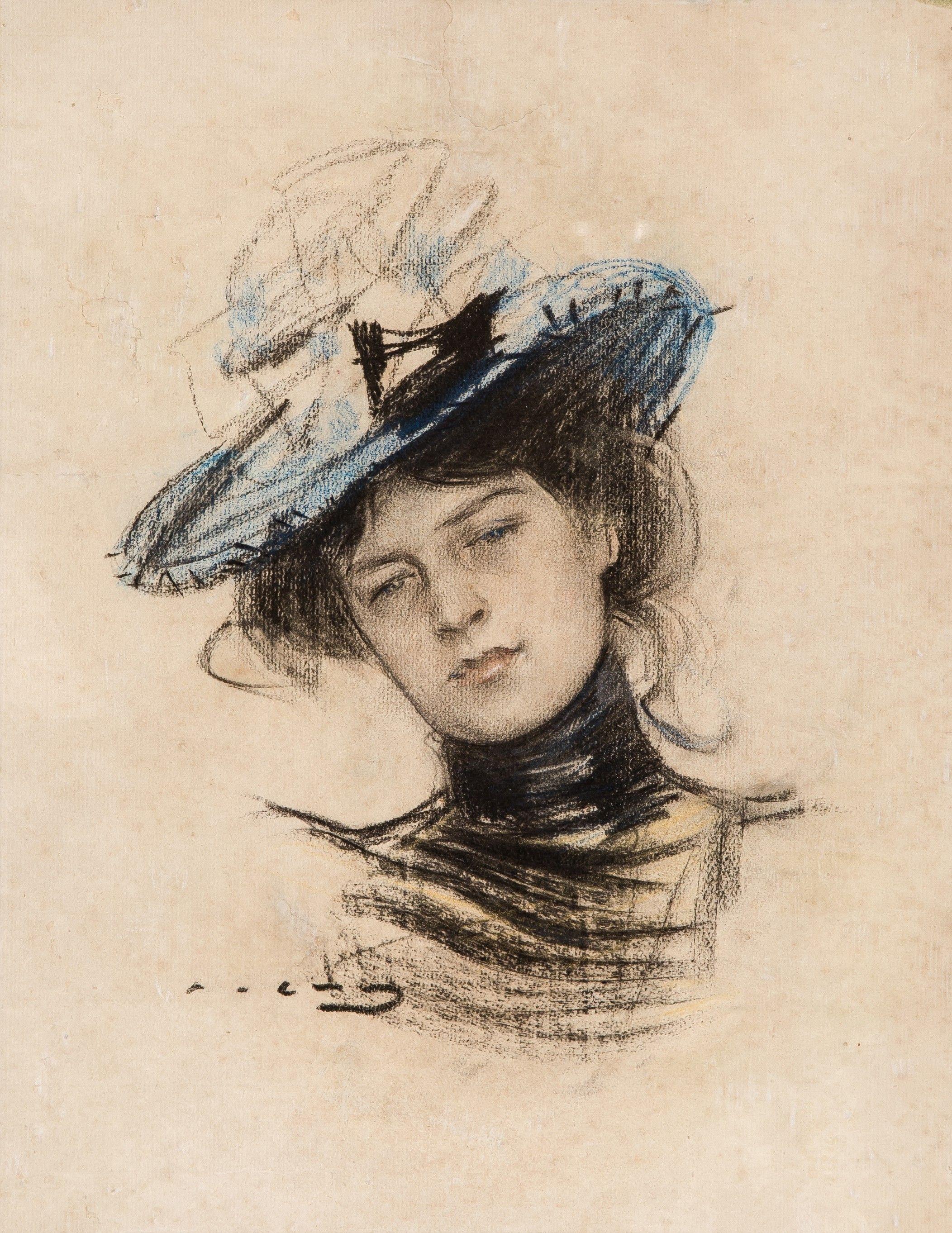 RAMON CASAS I CARBÓ (SPANISH 1866 1932) Portrait of a