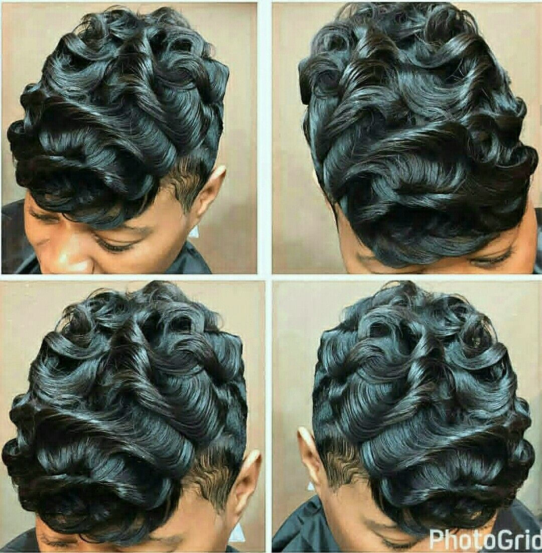 Pin by tahitia brown on love it pinterest hair style short hair