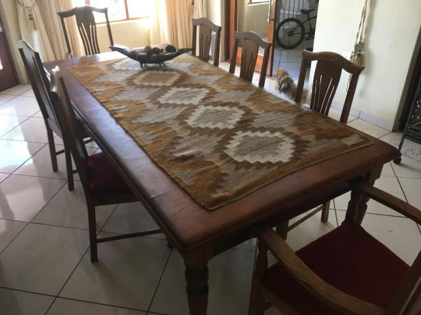 Yellow Wood Dining Table Bendor Park Image 1 Stinkhout