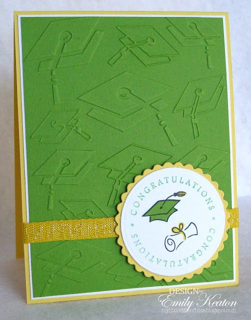 Photo of EMBOSSED ELEMENTS Graduation Congratulations card from my blog, My Little Slice …