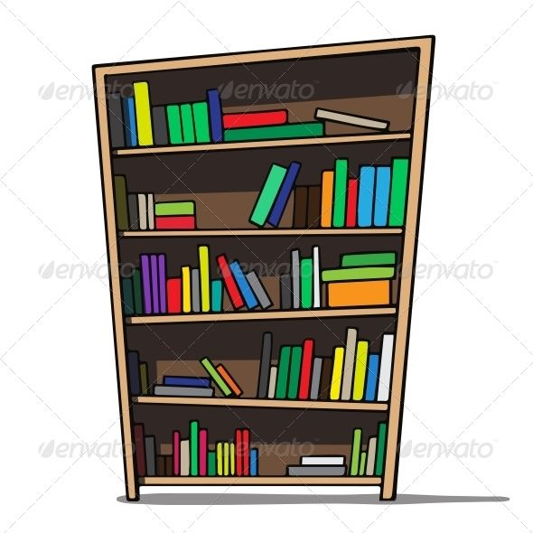 Cartoon Bookshelf Set Design Theatre Bookshelves Cartoon