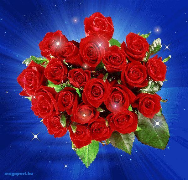 Картинки шикарные букеты роз движущие