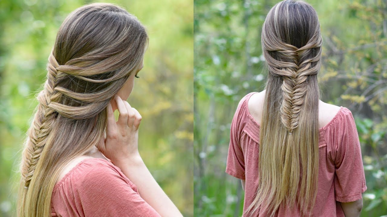 Fishtail hack mermaid braid hack cute girls hairstyles