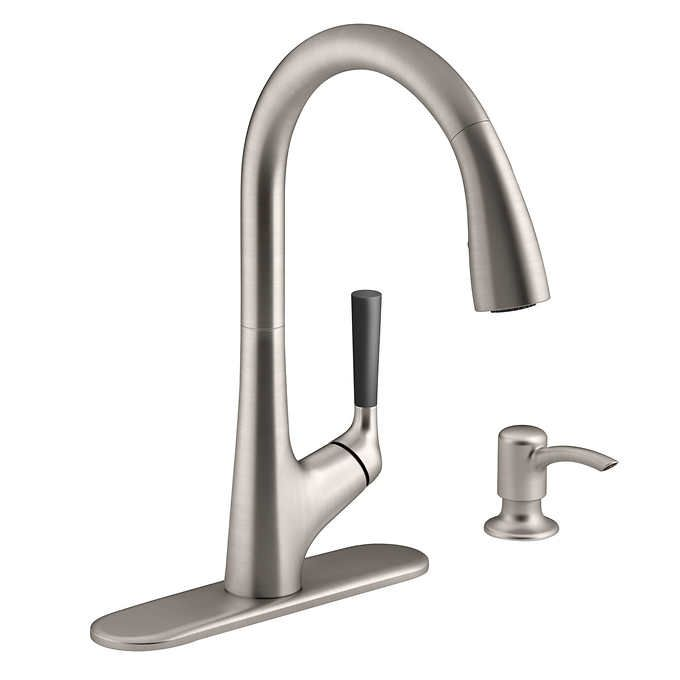 Costco 149 99 Kohler Malleco Pull Down Kitchen Sink Faucet With Soap Dispenser Kitchen Sink Faucets Sink Faucets Kitchen Faucet