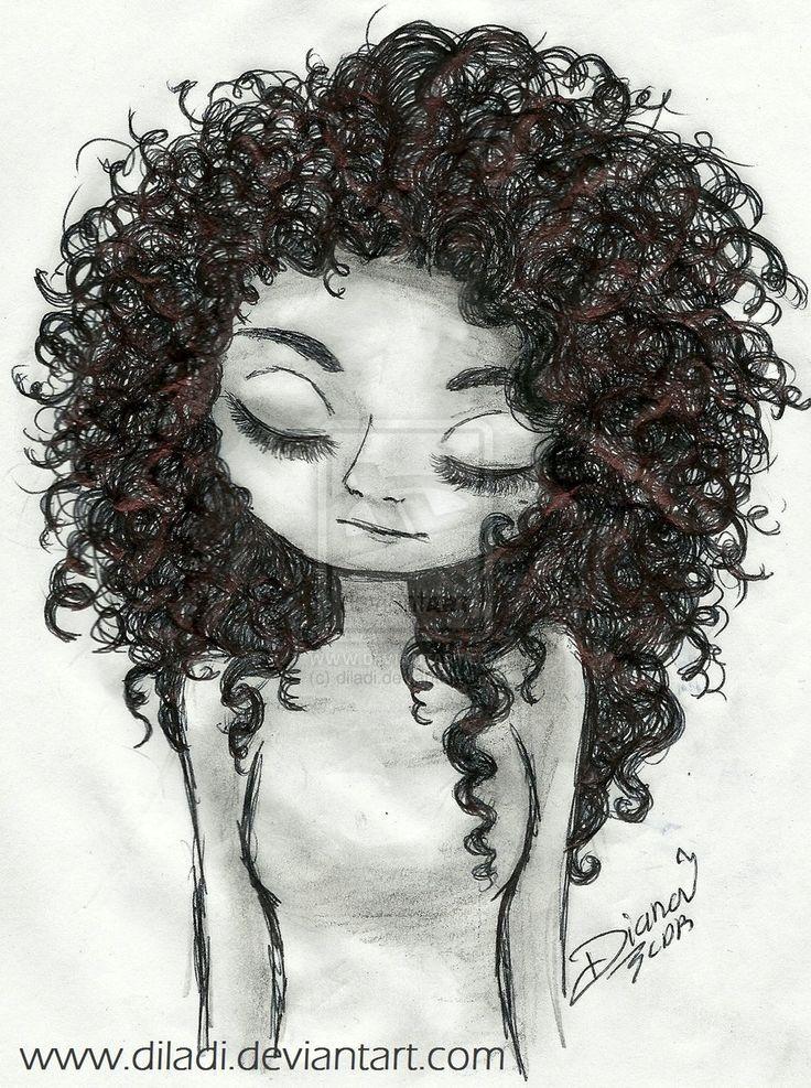 Resultado De Imagen Para Dibujo De Chica Con Cabello Ondulado