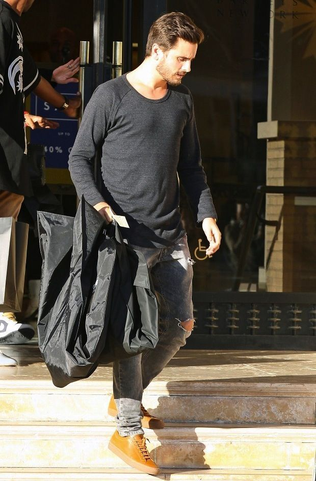 Scott Disick wears Common Projects Sneakers out Shopping in