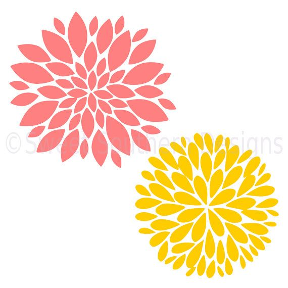 Dahlia Flower Svg Instant Download Design For By Ssdesignsstudio Flower Svg Files Flower Svg Crafts