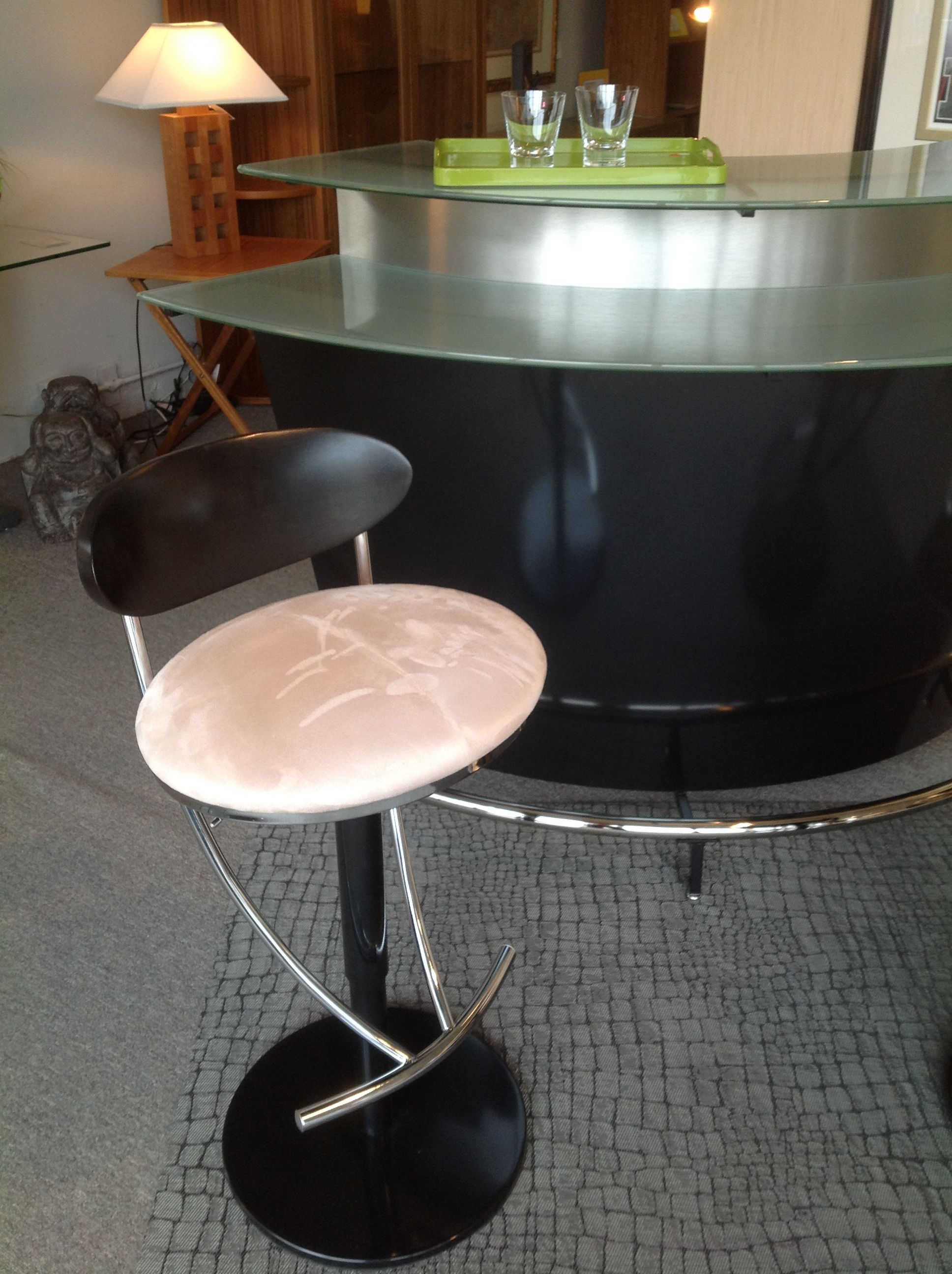 Martini Bar with Nova Barstool, Available at Scanhome Furnishings in Green Bay.