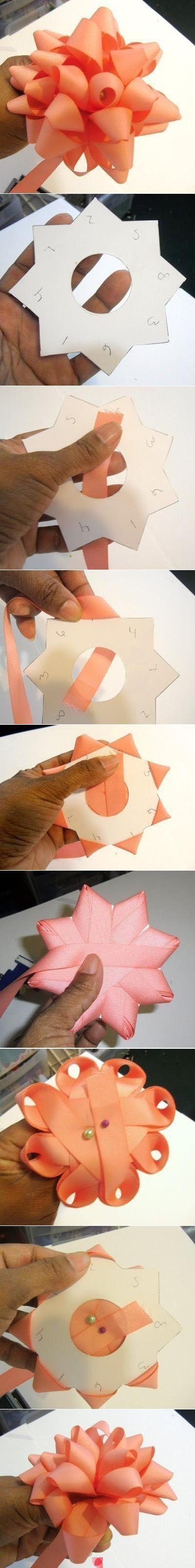 diy ribbon bow crafts bows pinterest geschenke. Black Bedroom Furniture Sets. Home Design Ideas