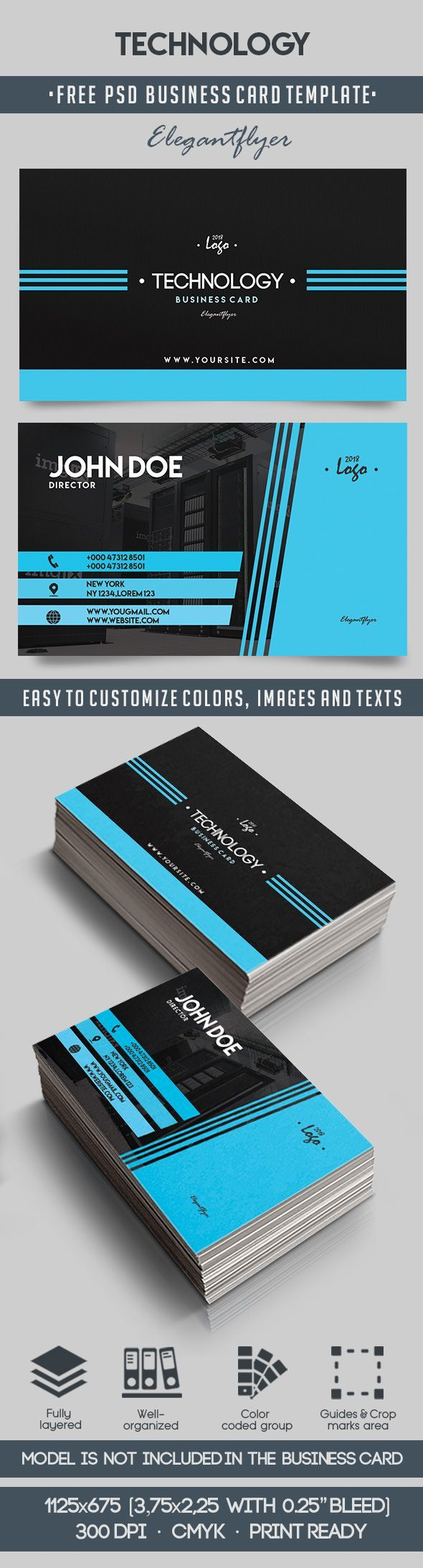 Technology Free Business Card Templates Psd Free Business Card