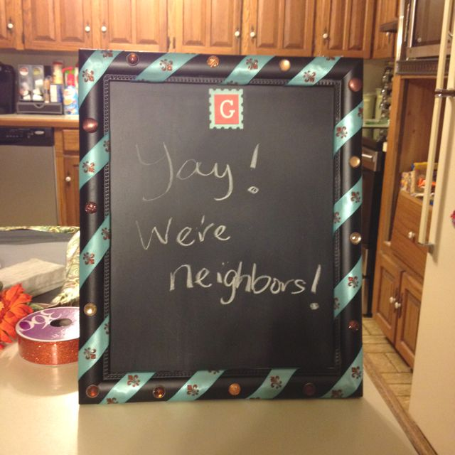 Another chalkboard. This one made w/a picture frame.