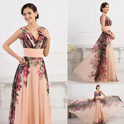 32388ade817 ELEGANT Long Bridesmaid Evening Prom Formal Ball Gown Party MAXI Dress PLUS  SIZE