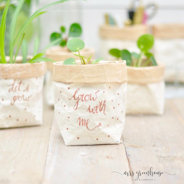 Milchtüten-upcycling - DIY für kleine Pflanztöpfe auf mrsgreenhouse.de #gardenupcycle