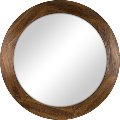 Shop Columbia Frame X Rustic Stain Polished Round Framed Contemporary Wall Mirror At Lowes Canada Find Our Selection Of Mirrors The Lowest Price