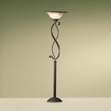 Kichler high country 76007 lamps torchiere 19 in old iron modern floor lamps