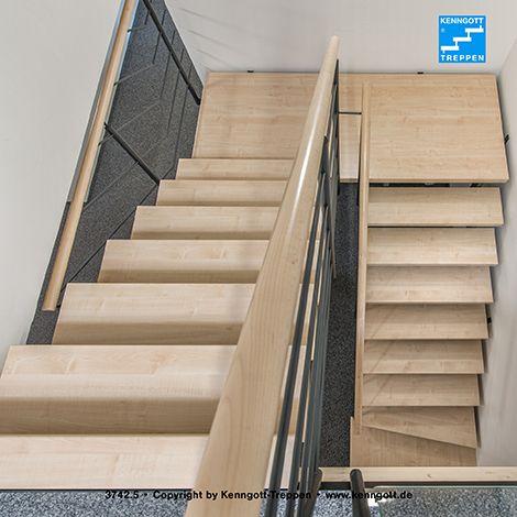 zweiholmtreppe stufen esche wei longlife zweiholmtreppe mit zwischenpodest stufenmaterial. Black Bedroom Furniture Sets. Home Design Ideas
