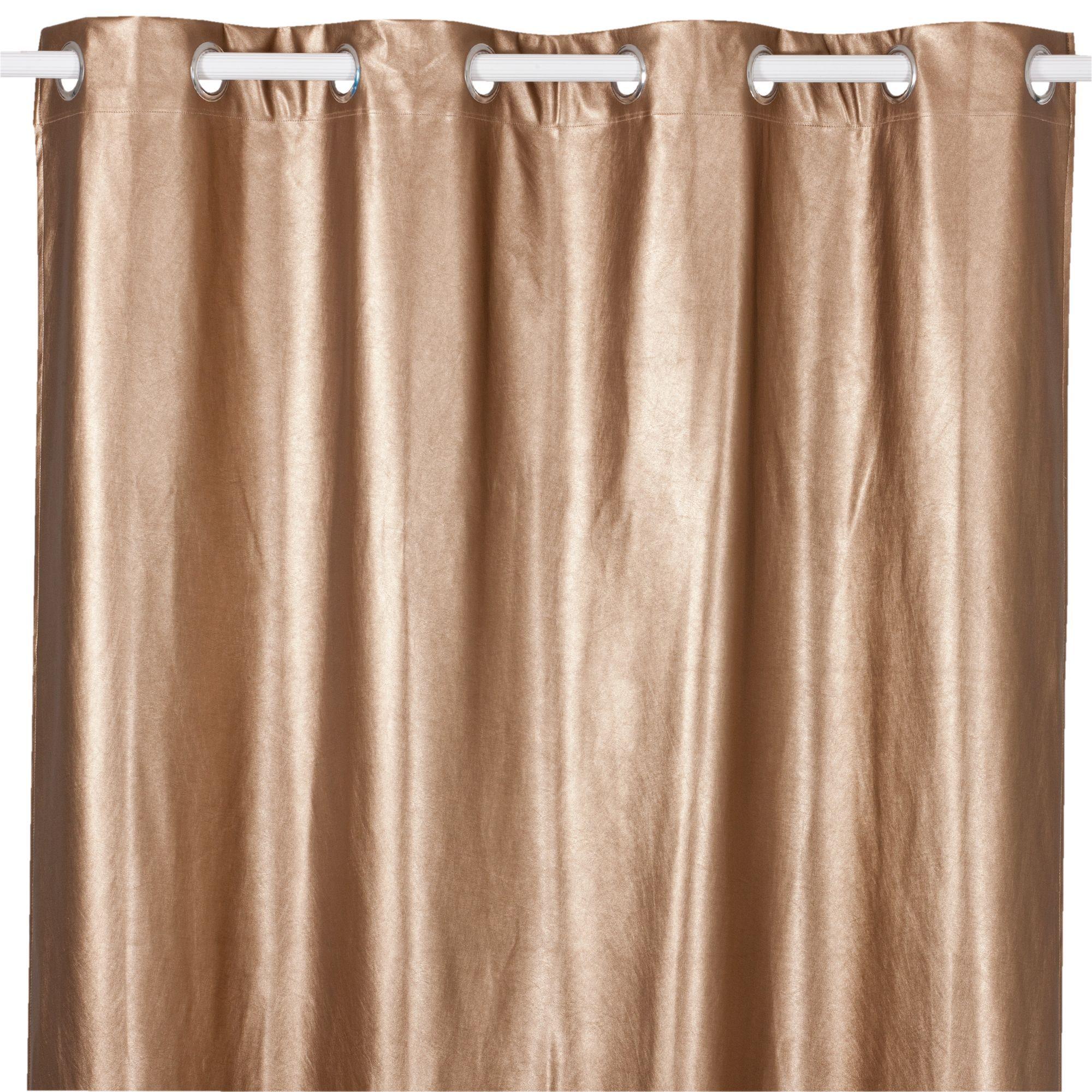 cobre rideaux textiles tapis rideau illets en 135x250cm coloris cuivre objet rose gold. Black Bedroom Furniture Sets. Home Design Ideas