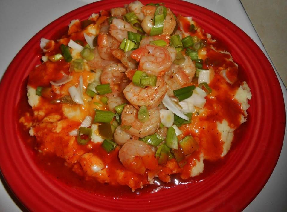 Shrimp & Potatoes I made.