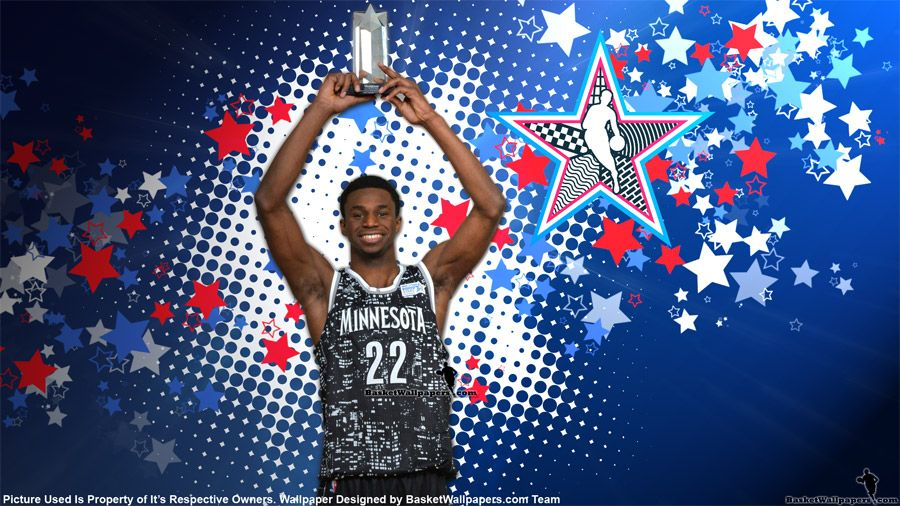 HD Widescreen Wallpaper Of 2015 NBA Rising Star MVP Andrew Wiggins With
