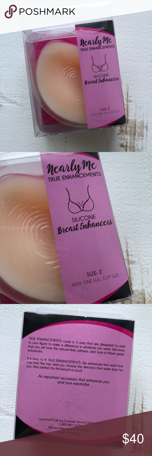 a8b04968879 NEW Nearly Me True Enhancements (in box!!) Size 2 Silicone Breast Enhancers