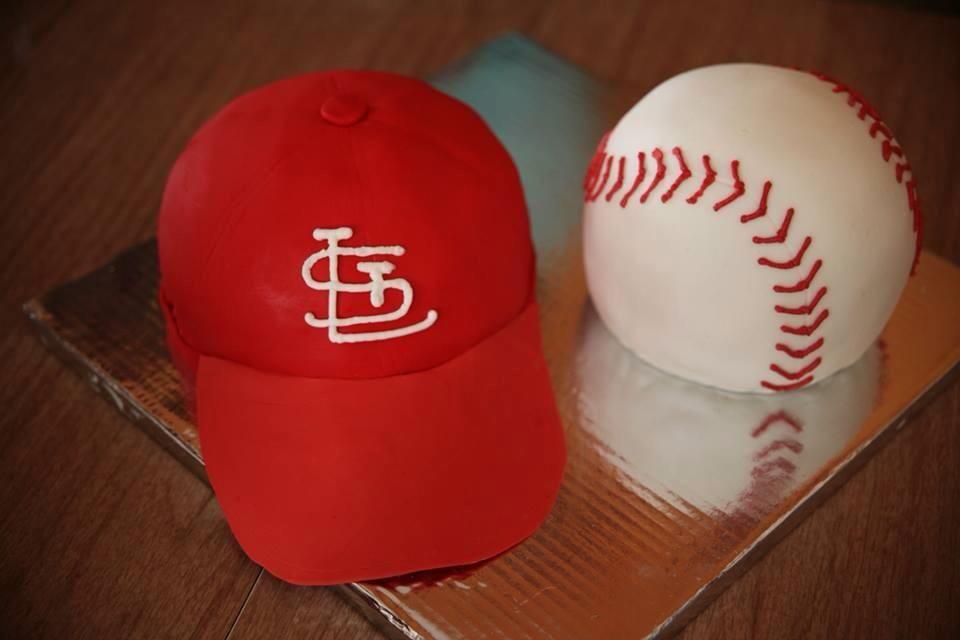 St Louis Cardinals Baseball Cake My Cakes Pinterest St