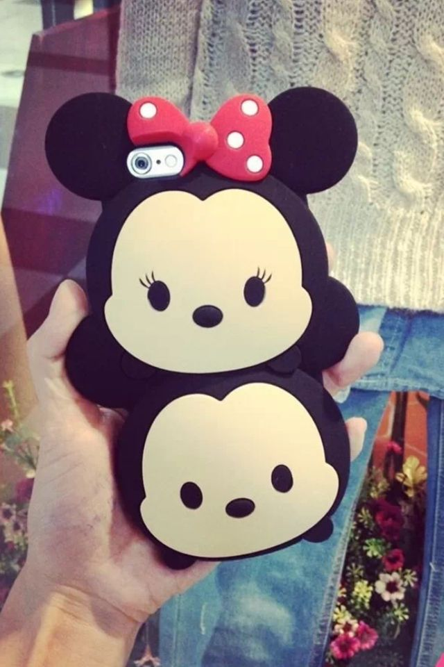76f84c3385c 3D Disney Tsum tsum Style Silicone Soft Back Full Mickey Minnie Mouse Case  Cover for iPhone 5 4 4S 5S 6 samsung | eBay