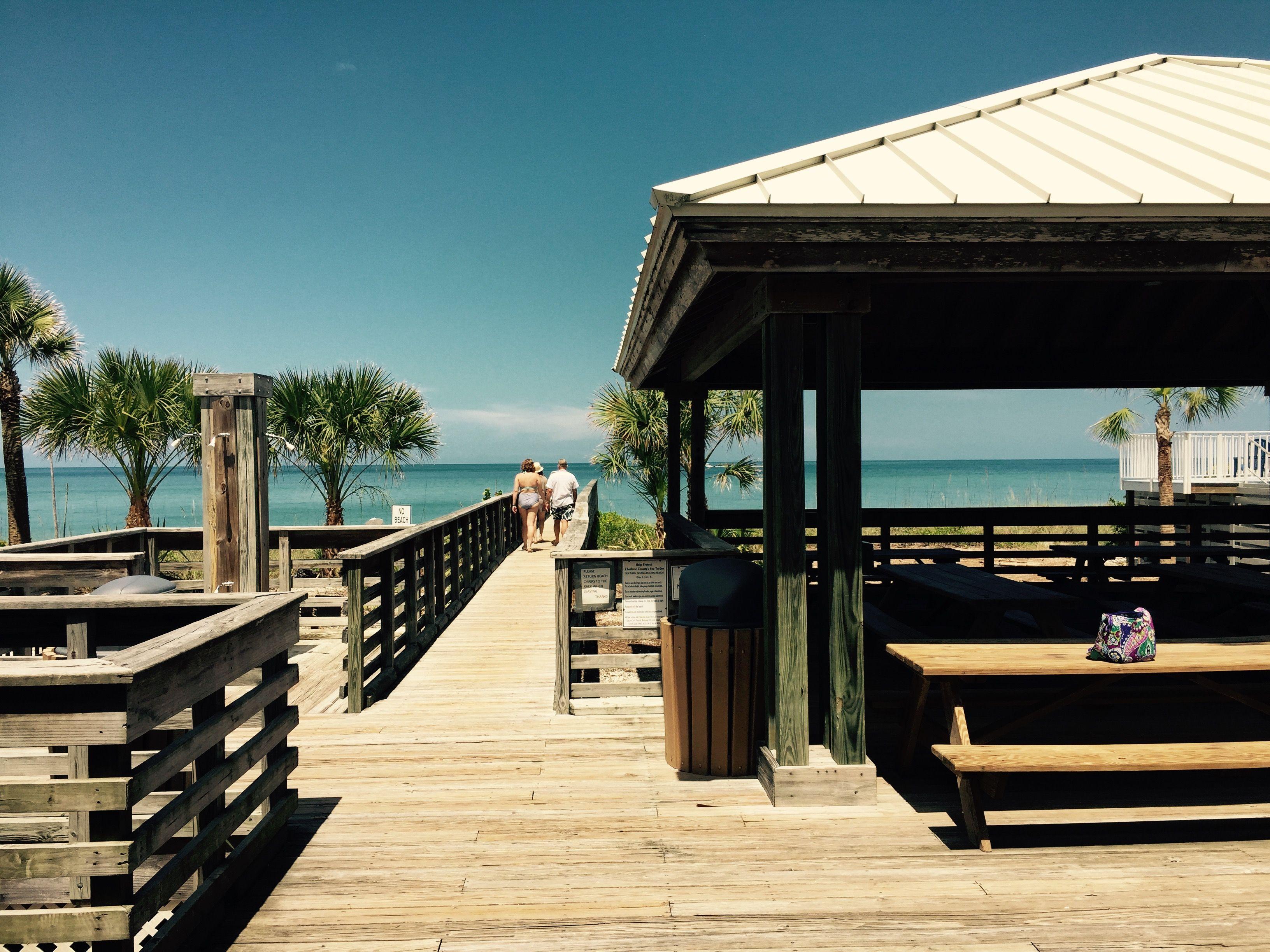 The boardwalk to the Riverwood Beach Club on Englewood ...