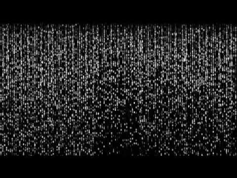 Matrix Digital White Rain   4K Relaxing Screensaver - YouTube